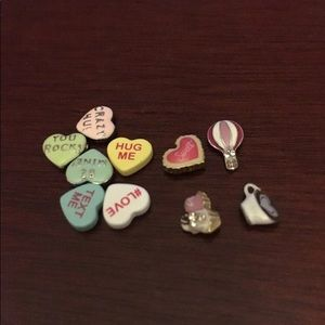 Origami owl valentines charms